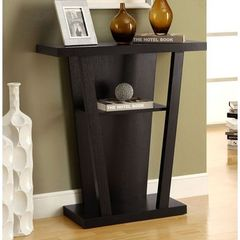 Buy Monarch Specialties 32x12 Rectangular Hall Console Accent Table in Cappuccino on sale online