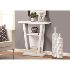 Buy Monarch Specialties 32x12 Rectangular Hall Console Accent Table in White on sale online