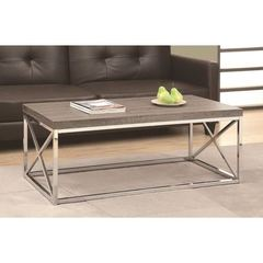 Buy Monarch Specialties 44x26 Reclaimed-Look Cocktail Table in Dark Taupe on sale online