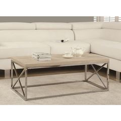 Buy Monarch Specialties 44x26 Rectangular Reclaimed-Look Cocktail Table in Natural on sale online