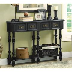 Buy Monarch Specialties 48x12 Rectangular Console Table in Antique Black on sale online