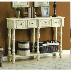 Buy Monarch Specialties 48x12 Rectangular Console Table in Antique White on sale online