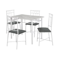 Buy Monarch Specialties 5 Piece 40x28 Dining Set in White Marble on sale online