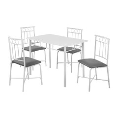 Buy Monarch Specialties 5 Piece 40x28 Dining Set in White on sale online