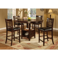 Buy Monarch Specialties 5 Piece 60x42 Oval Pub Table Set in Cappuccino on sale online