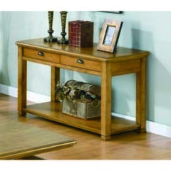 Buy Monarch Specialties 50x20 Rectangular Sofa Table w/ 2 Drawers in Light Oak on sale online