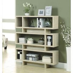 Buy Monarch Specialties 55 Inch Reclaimed-Look Modern Bookcase in Natural on sale online