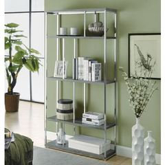 Buy Monarch Specialties 72 Inch Reclaimed-Look Bookcase in Dark Taupe on sale online