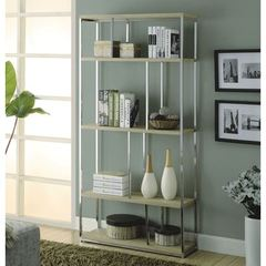 Buy Monarch Specialties 72 Inch l Reclaimed-Look Bookcase in Natura on sale online