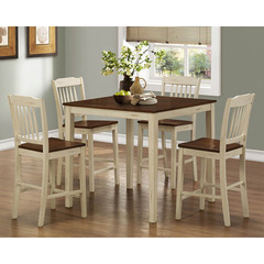 Buy Monarch Specialties Antique White & Walnut 5 Piece Counter Height Dining Set on sale online