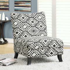 Buy Monarch Specialties Black & Beige Abstract Fabric Accent Chair on sale online