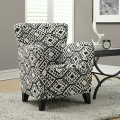 Buy Monarch Specialties Black & Beige Abstract Fabric Club Chair on sale online