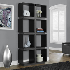 Buy Monarch Specialties Black & Grey Hollow-Core 71 Inch Bookcase on sale online