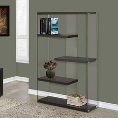 Buy Monarch Specialties Cappuccino Hollow-Core & Tempered Glass 36 Inch Bookcase on sale online
