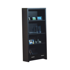 Buy Monarch Specialties Cappuccino Hollow-Core 71 Inch Bookcase w/ Drawer on sale online
