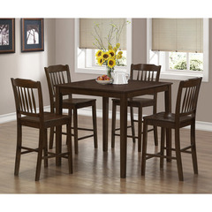 Buy Monarch Specialties Cappuccino Veneer 5 Piece Counter Height Dining Set on sale online
