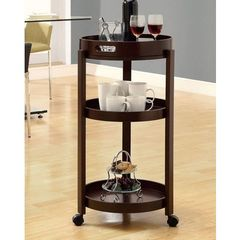 Buy Monarch Specialties 17x17 Casual Tea Cart w/ Serving Tray in Cappuccino on sale online