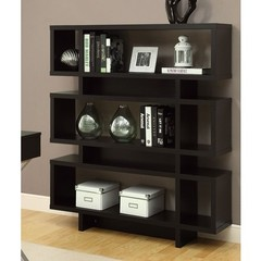 Buy Monarch Specialties Contemporary 55 Inch Hollow-Core Bookcase in Cappuccino on sale online