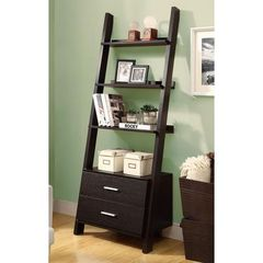 Buy Monarch Specialties Contemporary 69 Inch Ladder Bookcase in Cappuccino on sale online