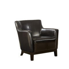 Buy Monarch Specialties Dark Brown Leather-Look Accent Chair on sale online