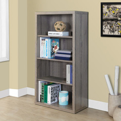 Buy Monarch Specialties Dark Taupe Reclaimed-Look 48 Inch Bookcase / Adjustable Shelves on sale online
