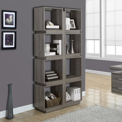 Buy Monarch Specialties Dark Taupe Reclaimed-Look 71 Inch Bookcase on sale online