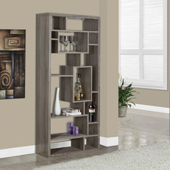 Buy Monarch Specialties Dark Taupe Reclaimed-Look 72 Inch Bookcase on sale online