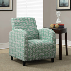 Buy Monarch Specialties Faded Green Angled Kaleidoscope Fabric Accent Chair on sale online