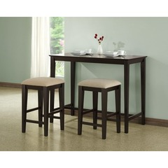 Buy Monarch Specialties 3 Piece 48x24 Counter Height Set on sale online