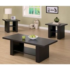 Buy Monarch Specialties 3 Piece Occasional Table Set in Cappuccino on sale online