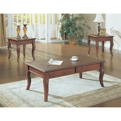 Buy Monarch Specialties 3 Piece Occasional Table Set in Walnut on sale online