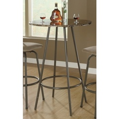 Buy Monarch Specialties 30x30 Bar Table in Cappuccino on sale online