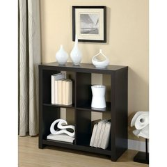 Buy Monarch Specialties 34 Inch Room Divider Bookcase in Cappuccino on sale online