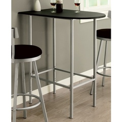 Buy Monarch Specialties 36x24 Spacesaver Bar Table in Black and Silver on sale online