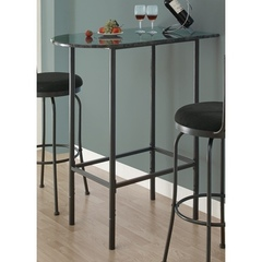 Buy Monarch Specialties 36x24 Spacesaver Bar Table in Grey Marble on sale online