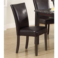 Buy Monarch Specialties 38 Inch Dining Chair in Dark Brown (Set of 2) on sale online