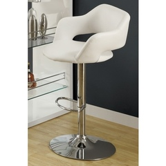 Buy Monarch Specialties Barstool w/ Hydraulic Lift in White on sale online