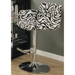 Buy Monarch Specialties Barstool w/ Hydraulic Lift in Zebra on sale online