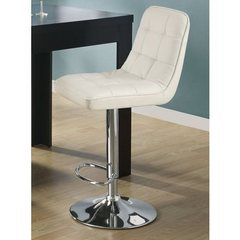 Buy Monarch Specialties Barstool w/ Hydraulic Lift in White (Set of 2) on sale online