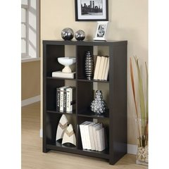 Buy Monarch Specialties 48 Inch Room Divider Bookcase in Cappuccino on sale online
