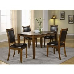 Buy Monarch Specialties 5 Piece 72x36 Dining Room Set in Walnut on sale online