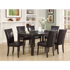 Buy Monarch Specialties 7 Piece 60x36 Dining Room Set in Dark Espresso on sale online