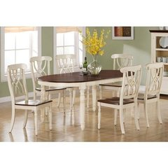 Buy Monarch Specialties 7 Piece 60x42 Dining Room Set in Antique White on sale online