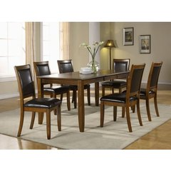 Buy Monarch Specialties 7 Piece 72x36 Dining Room Set in Walnut on sale online