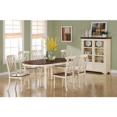 Buy Monarch Specialties 8 Piece 60x42 Dining Room Set in Antique White on sale online