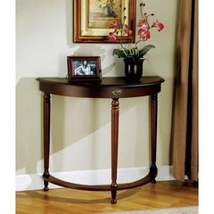Buy Monarch Specialties Crescent Hall Console Table in Walnut on sale online