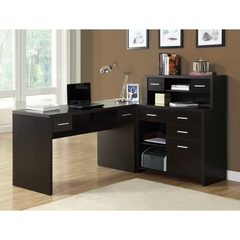 Buy Monarch Specialties L-Shaped Home Office Desk in Cappuccino on sale online