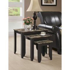 Buy Monarch Specialties Nesting Tables in Cappuccino (Set of 3) on sale online