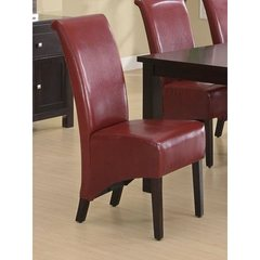 Buy Monarch Specialties Parson Chair in Burgundy (Set of 2) on sale online