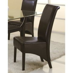 Buy Monarch Specialties Parson Chair in Dark Brown (Set of 2) on sale online